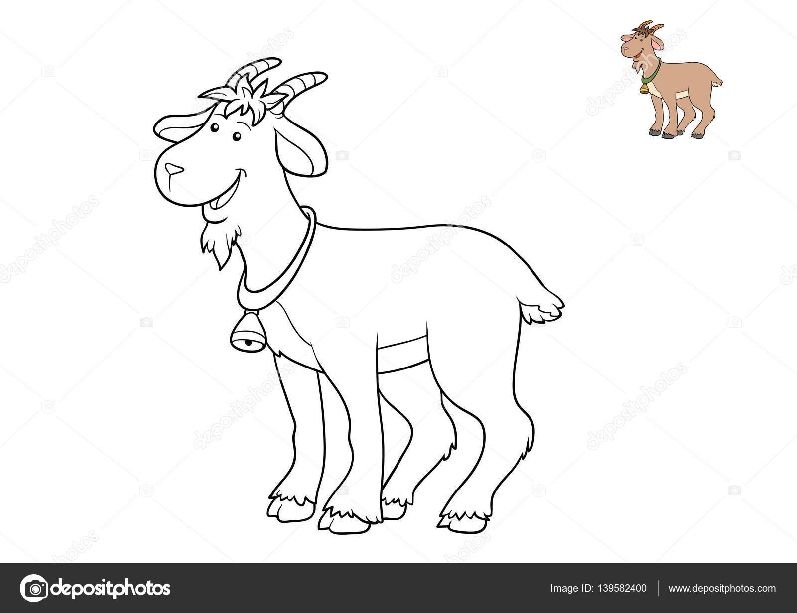 Libro de colorear, cabra — Fotos de Stock © ksenya_savva #139582400