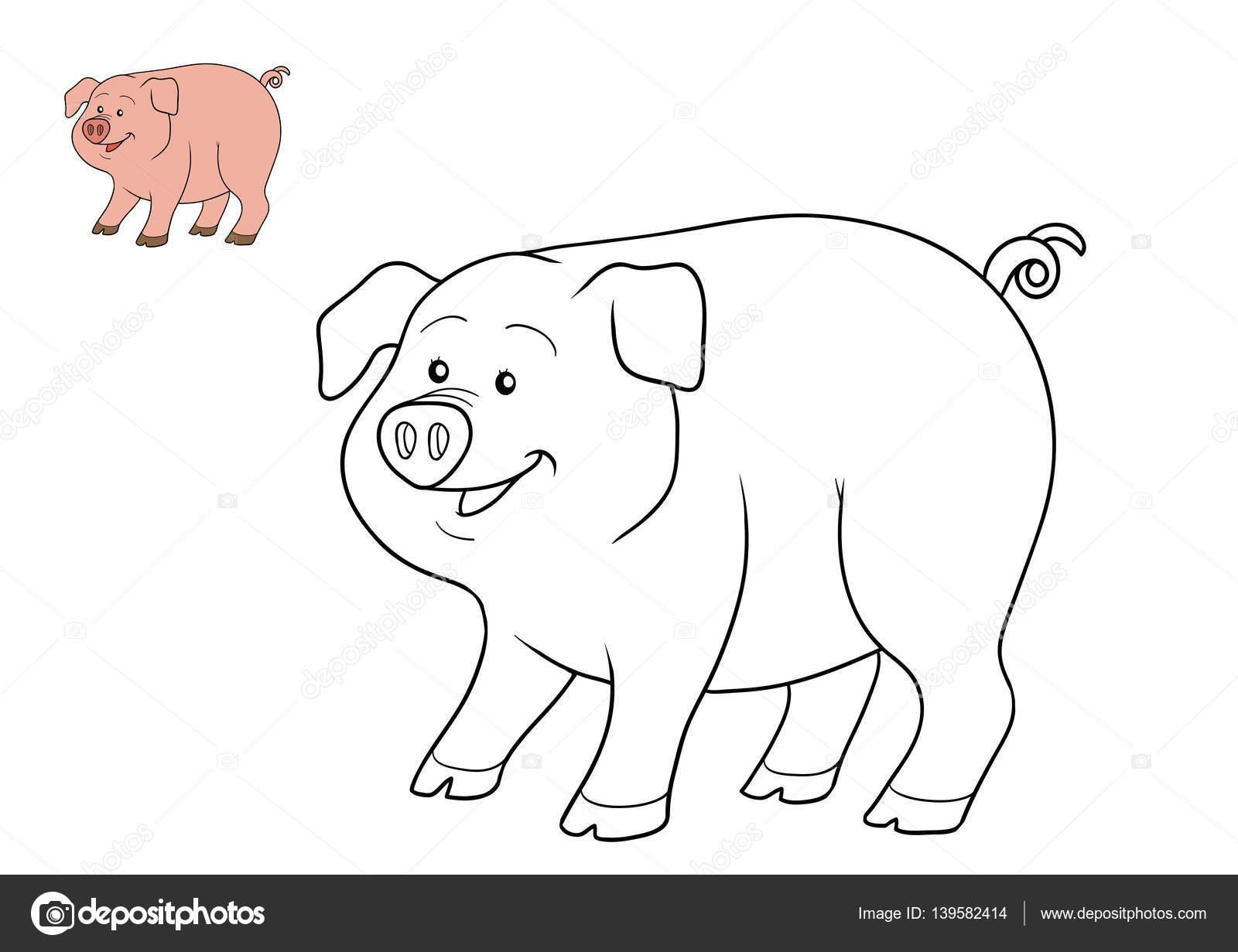 Malbuch, Schwein — Stockfoto © ksenya_savva #139582414