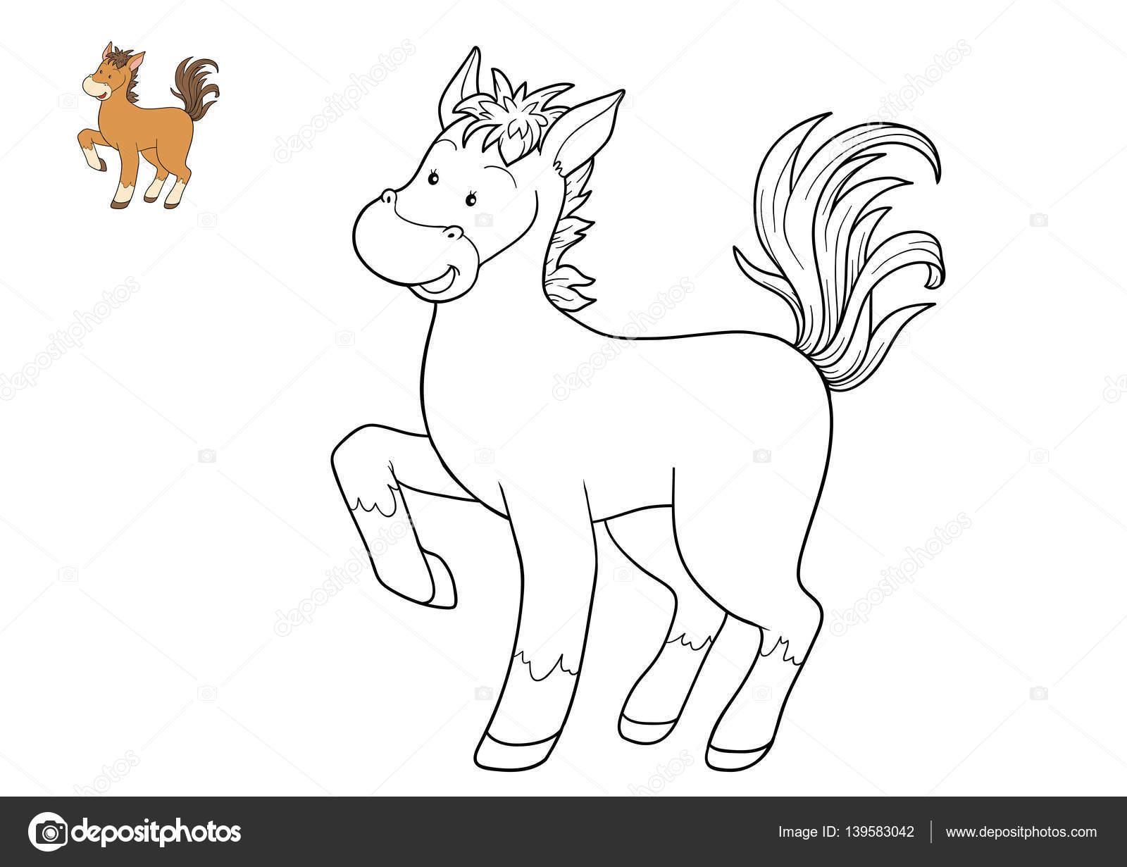 Dibujos De Caballos Para Colorear E Imprimir: Caballo Caricatura Para Colorear
