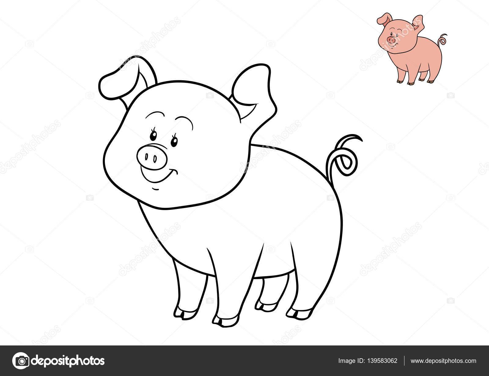 Libro da colorare maiale foto stock ksenya savva for Maialino disegno per bambini