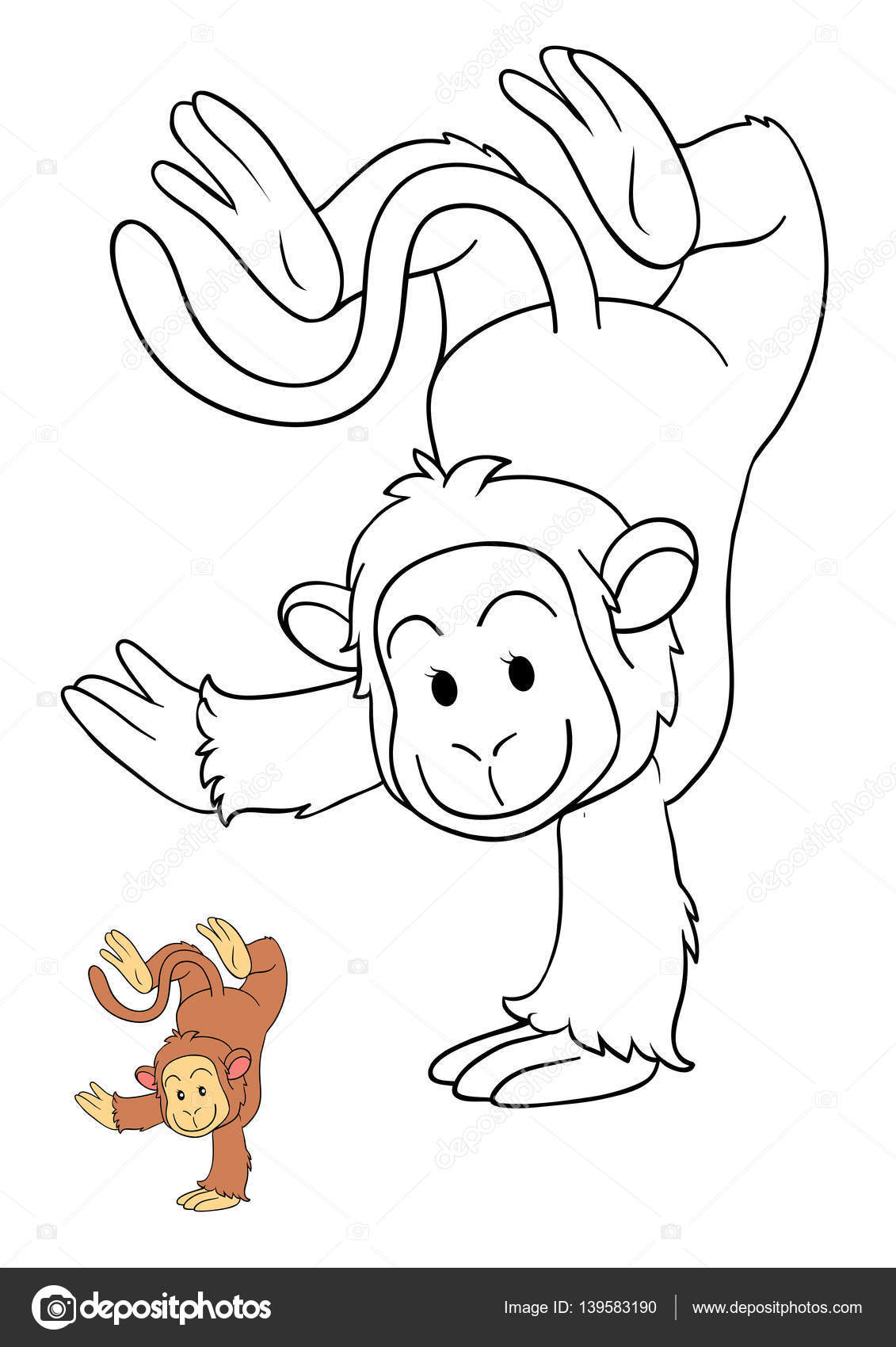 Coloring book, Monkey — Stock Photo © ksenya_savva #139583190