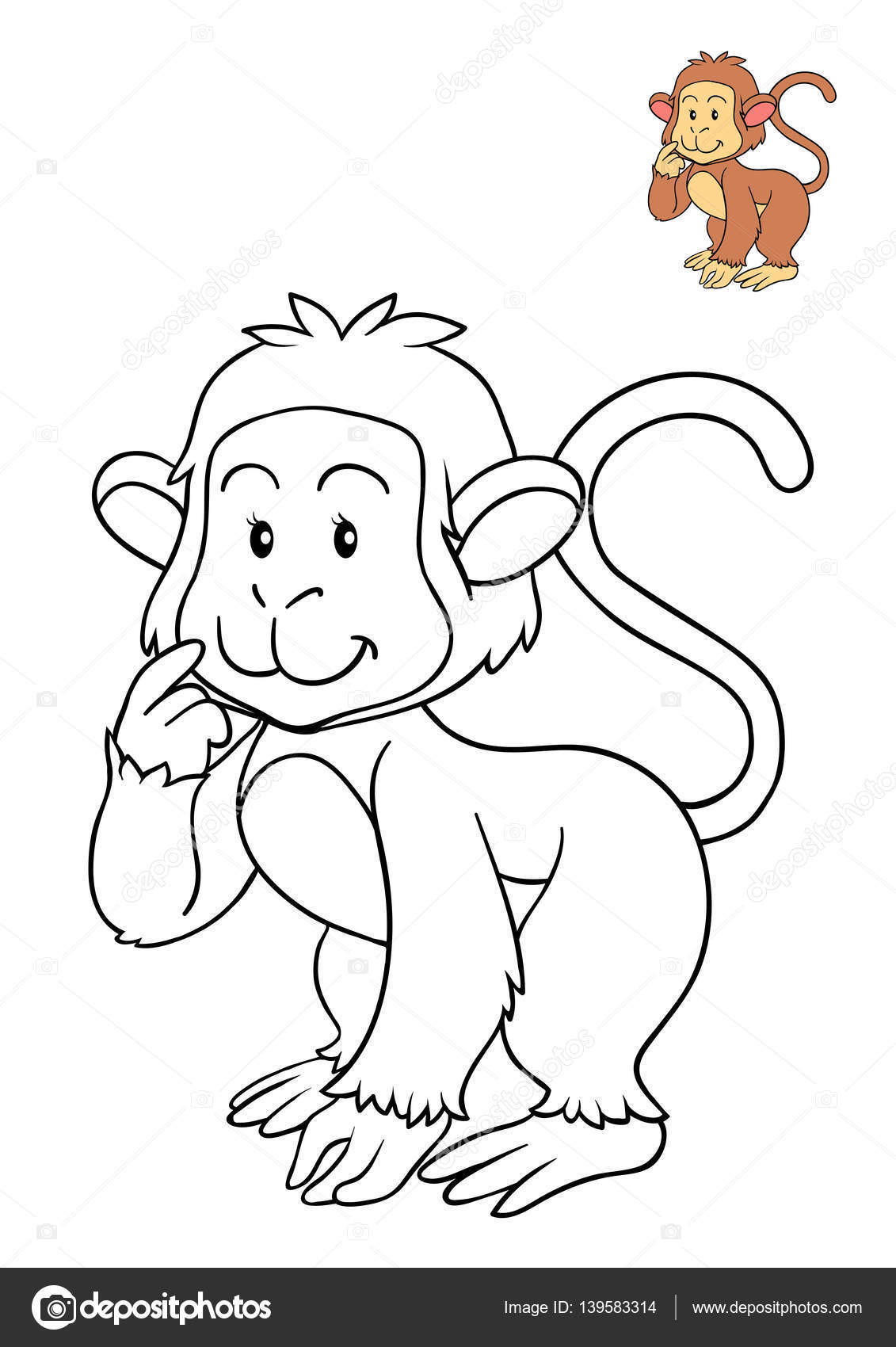 Boyama Kitabı Maymun Stok Foto Ksenyasavva 139583314