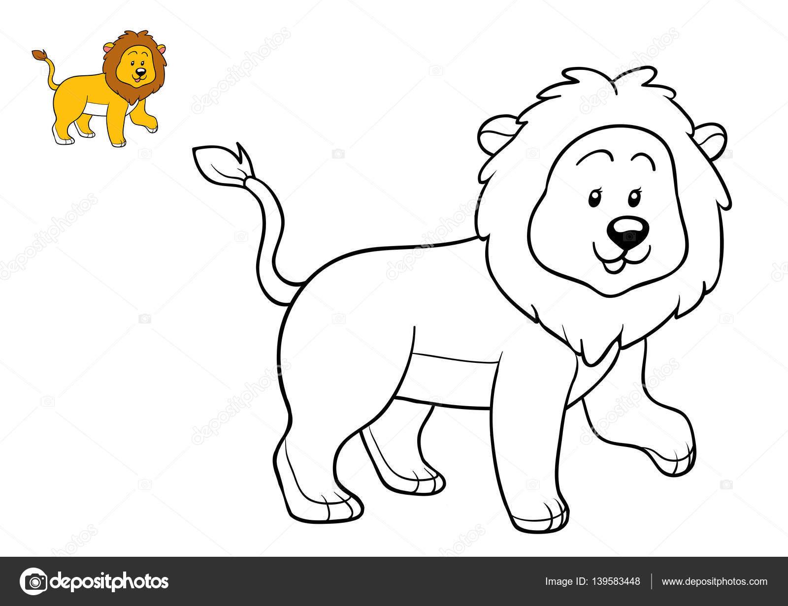 Coloring book, Lion — Stock Photo © ksenya_savva #139583448