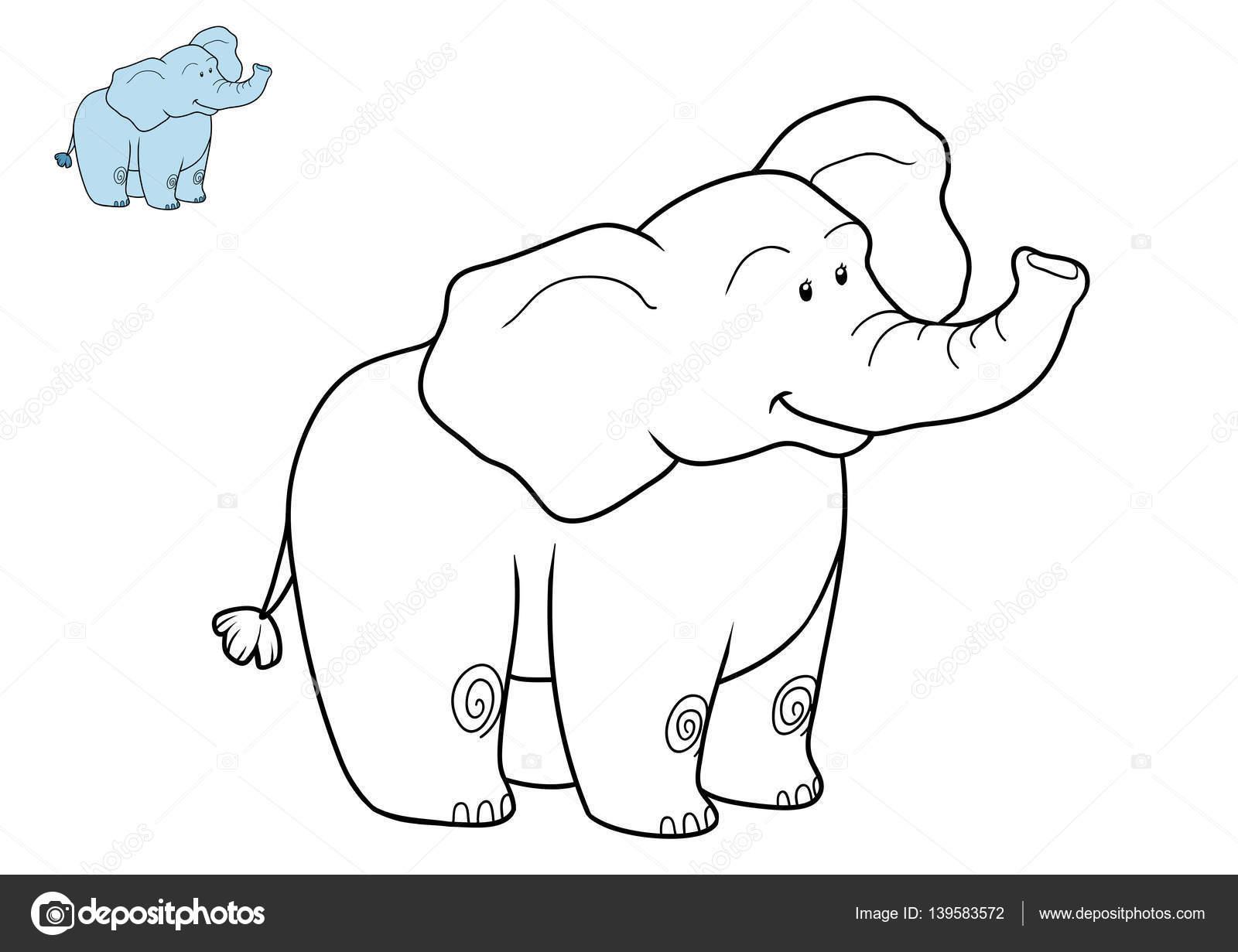 Imágenes Elefante Asiatico Para Colorear Libro Para Colorear