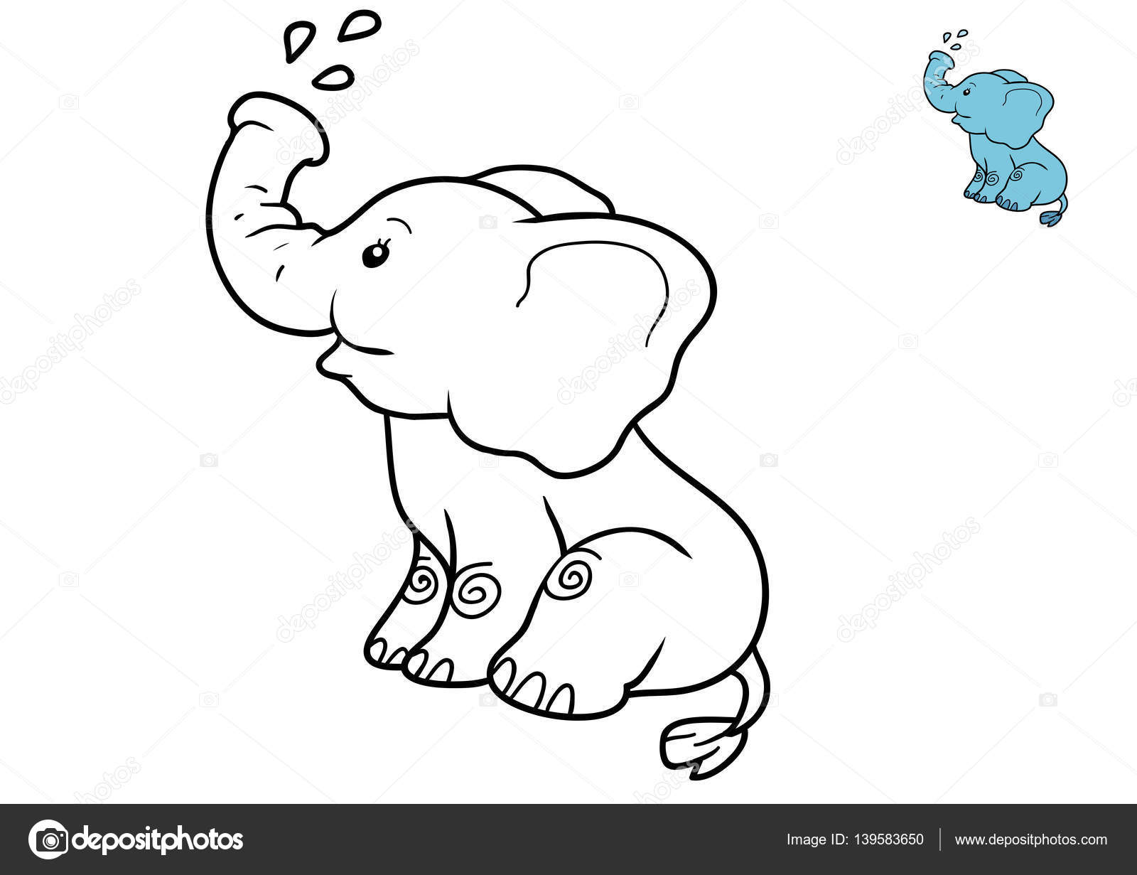 Coloring Book Elephant Stock Photo C Ksenya Savva 139583650