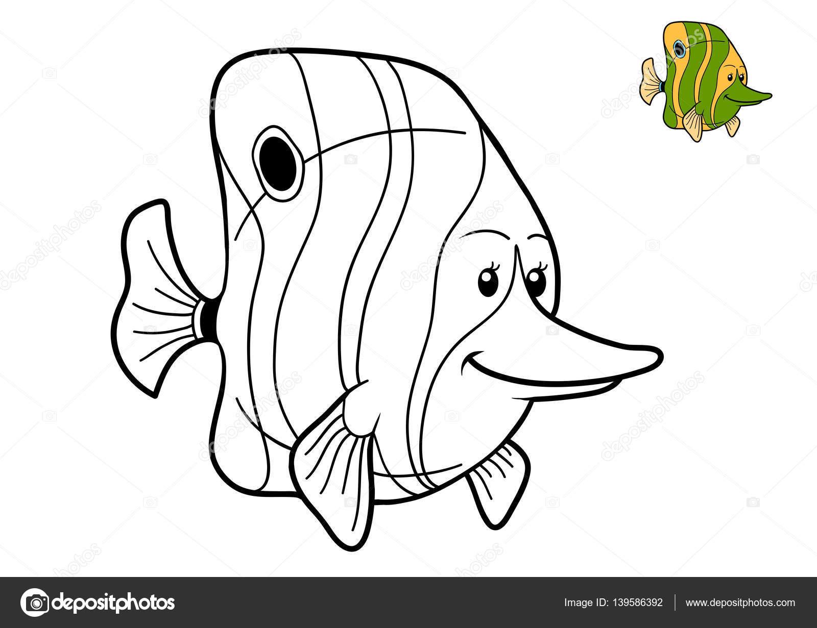 Boyama Kitabı Balık Stok Foto Ksenyasavva 139586392