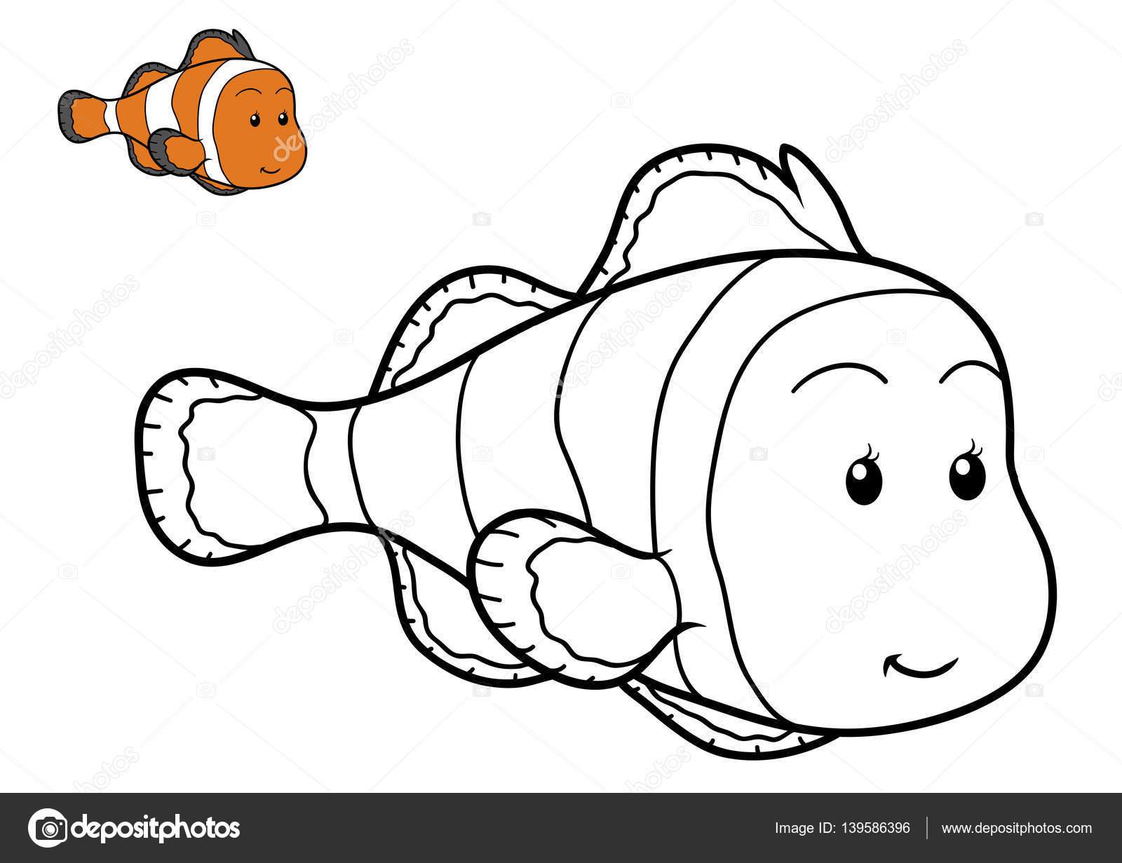 Libro para colorear, peces — Fotos de Stock © ksenya_savva #139586396