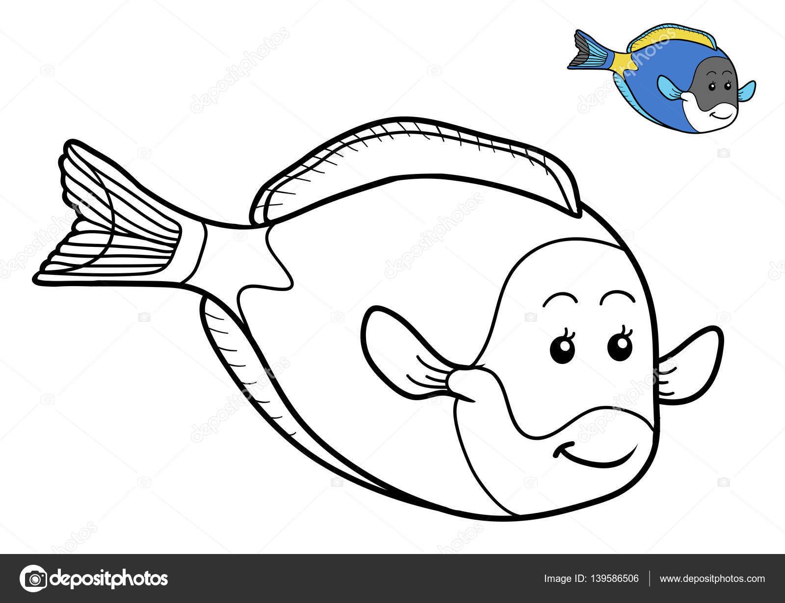 Libro para colorear, peces — Fotos de Stock © ksenya_savva #139586506