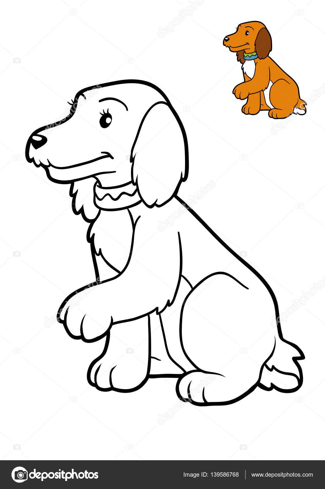 Libro para colorear, perro — Fotos de Stock © ksenya_savva #139586768