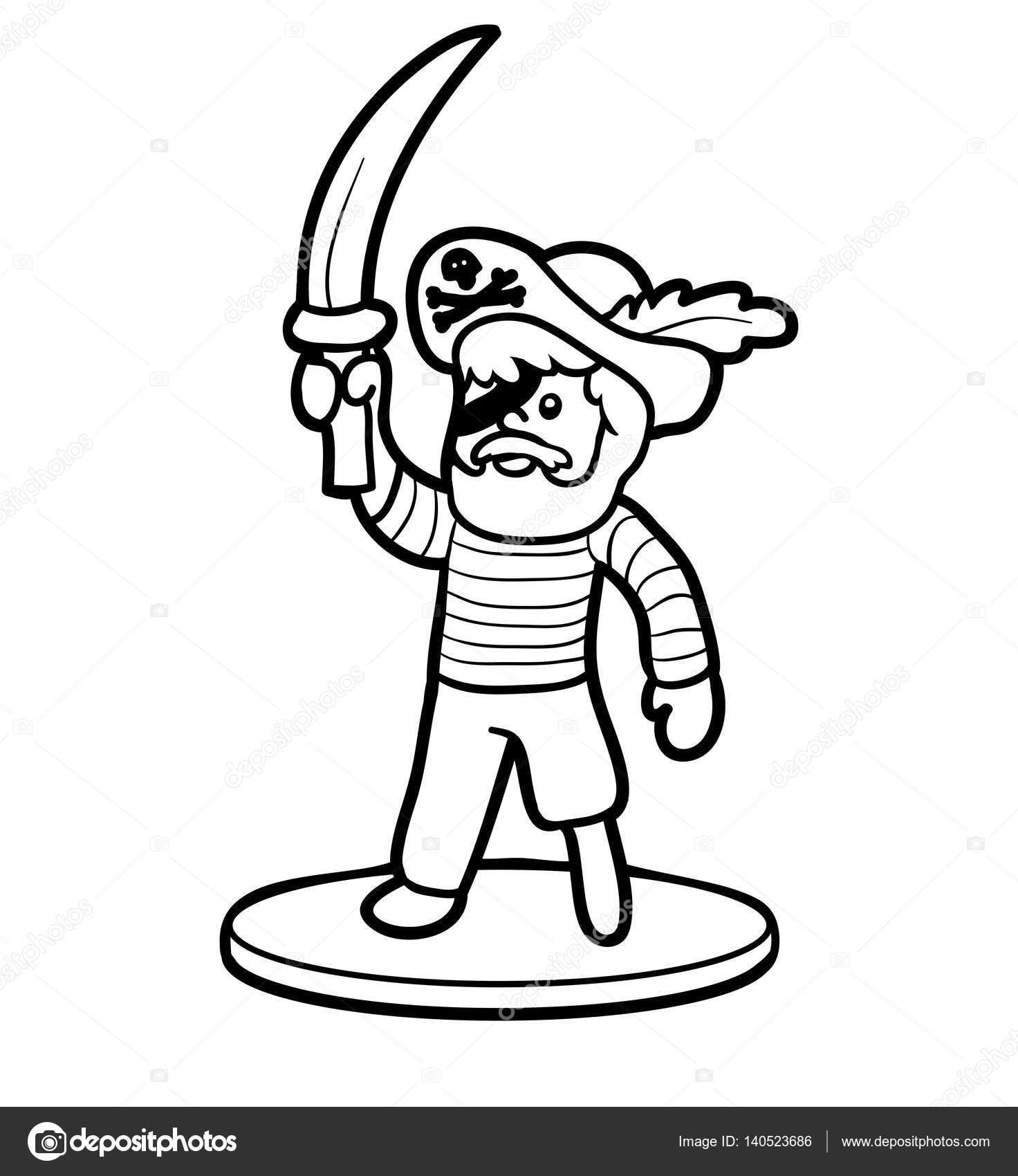 Libro para colorear, piratas — Archivo Imágenes Vectoriales ...