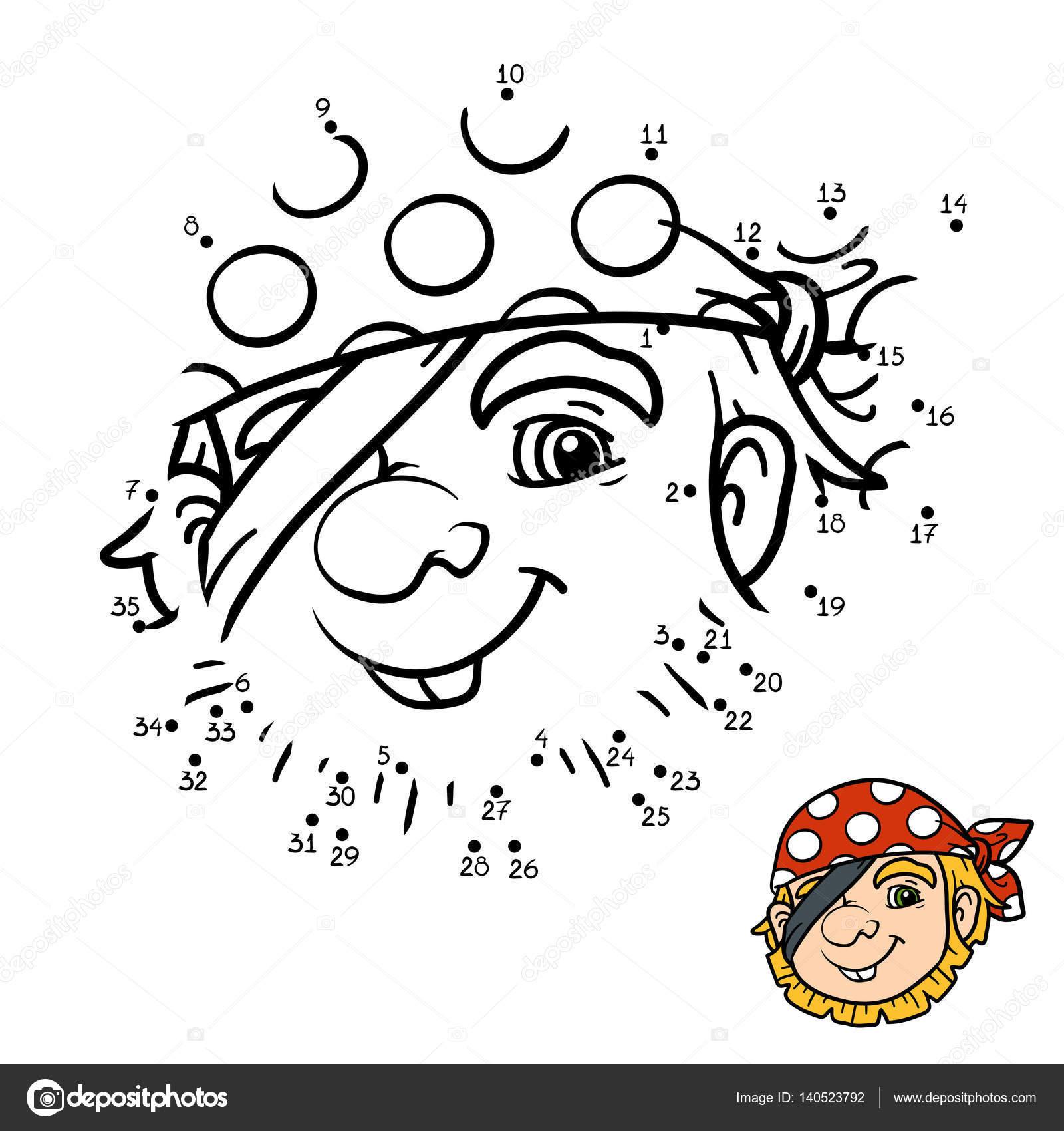 Spiel mit Zahlen für Kinder, Piraten — Stockvektor © ksenya_savva ...