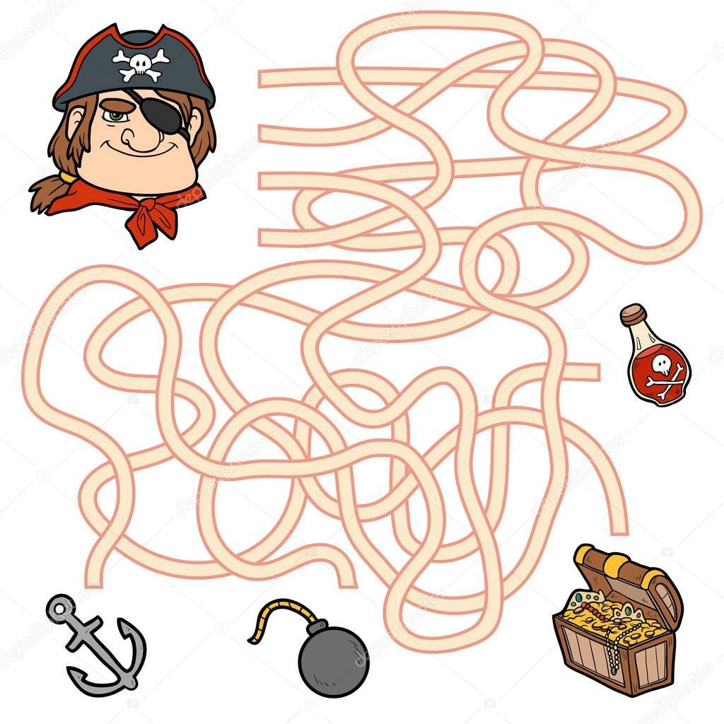 doolhof spel onderwijs spel voor kinderen piraat en