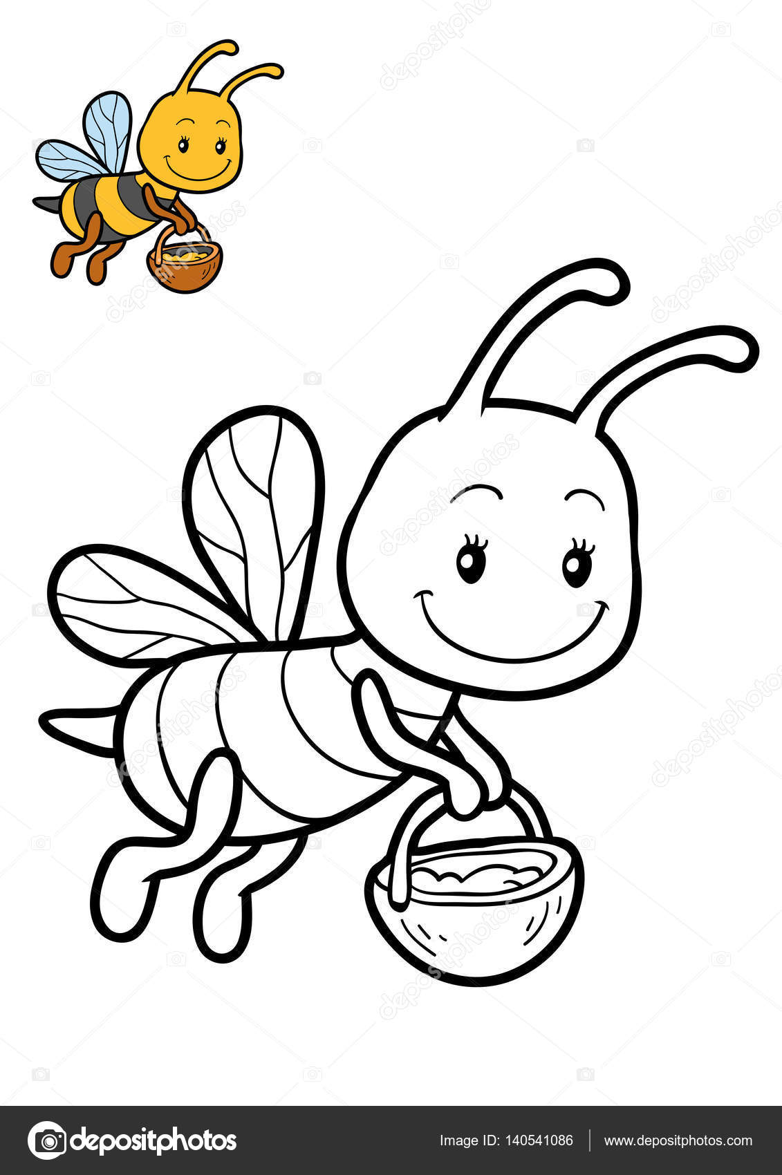 Libro para colorear, abejas — Fotos de Stock © ksenya_savva #140541086