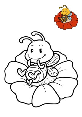 Coloring book, Bee