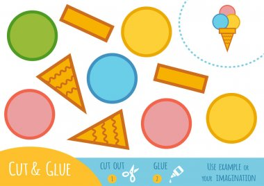 Education paper game for children, Ice cream