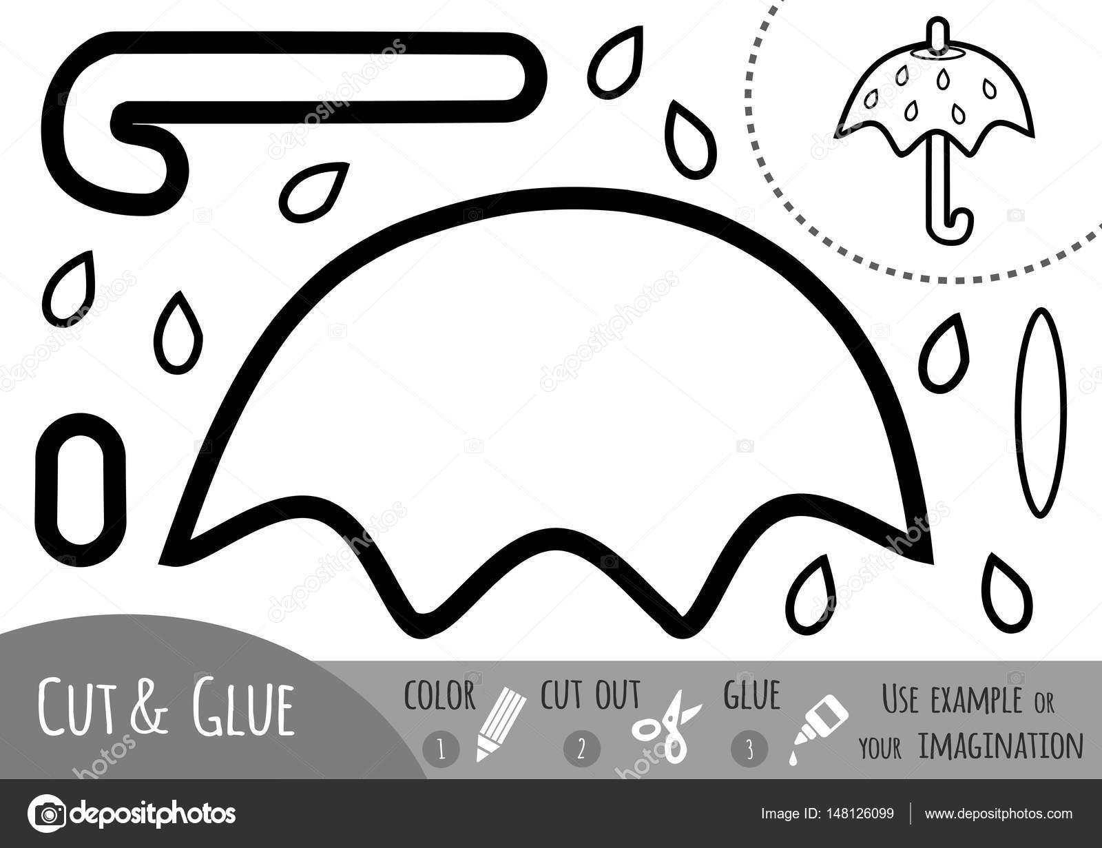 Eğitim Kağıt şemsiye çocuklar Için Oyun Stok Vektör