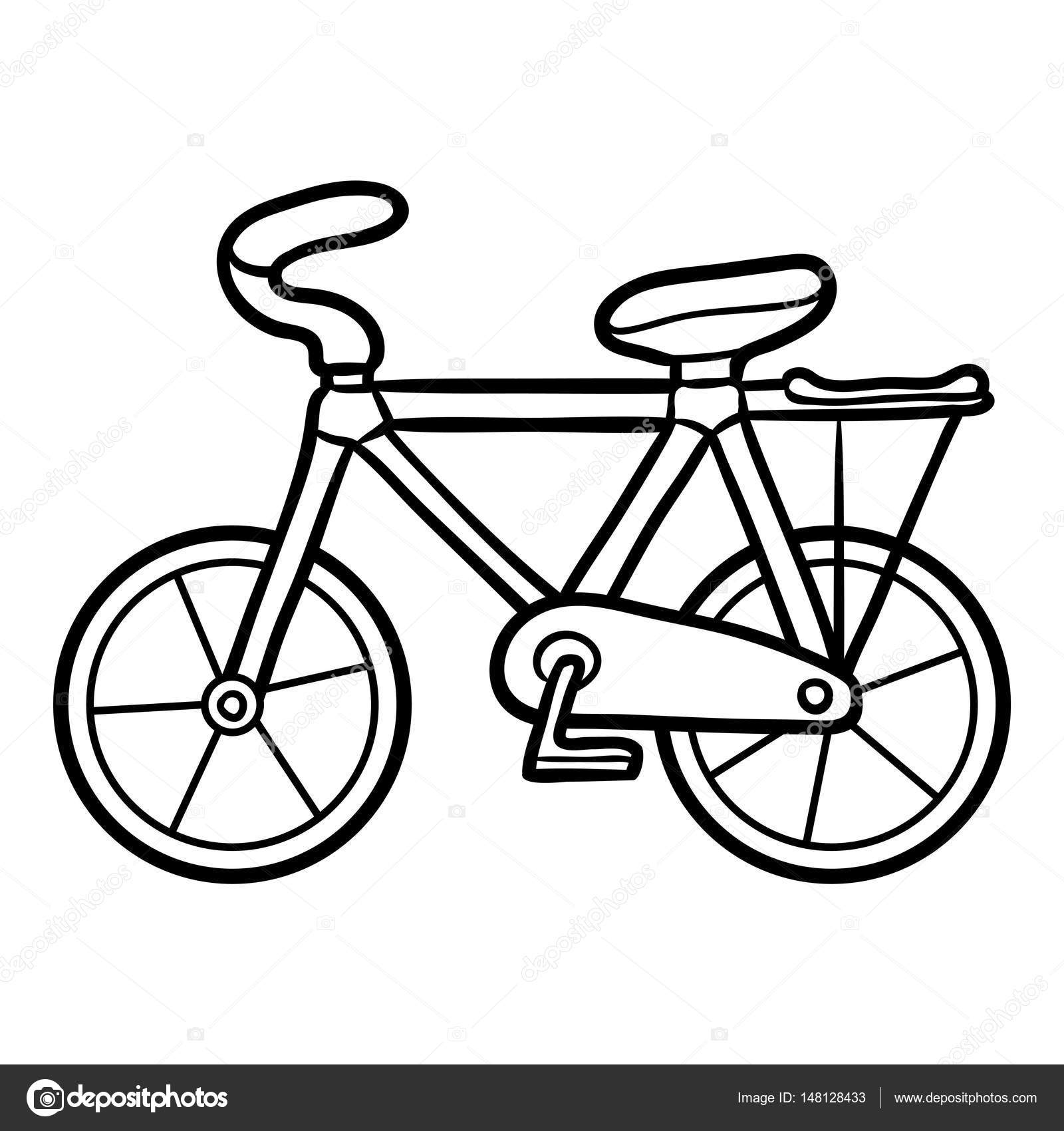 Pictures Bicycle To Color Coloring Book For Kids Bicycle