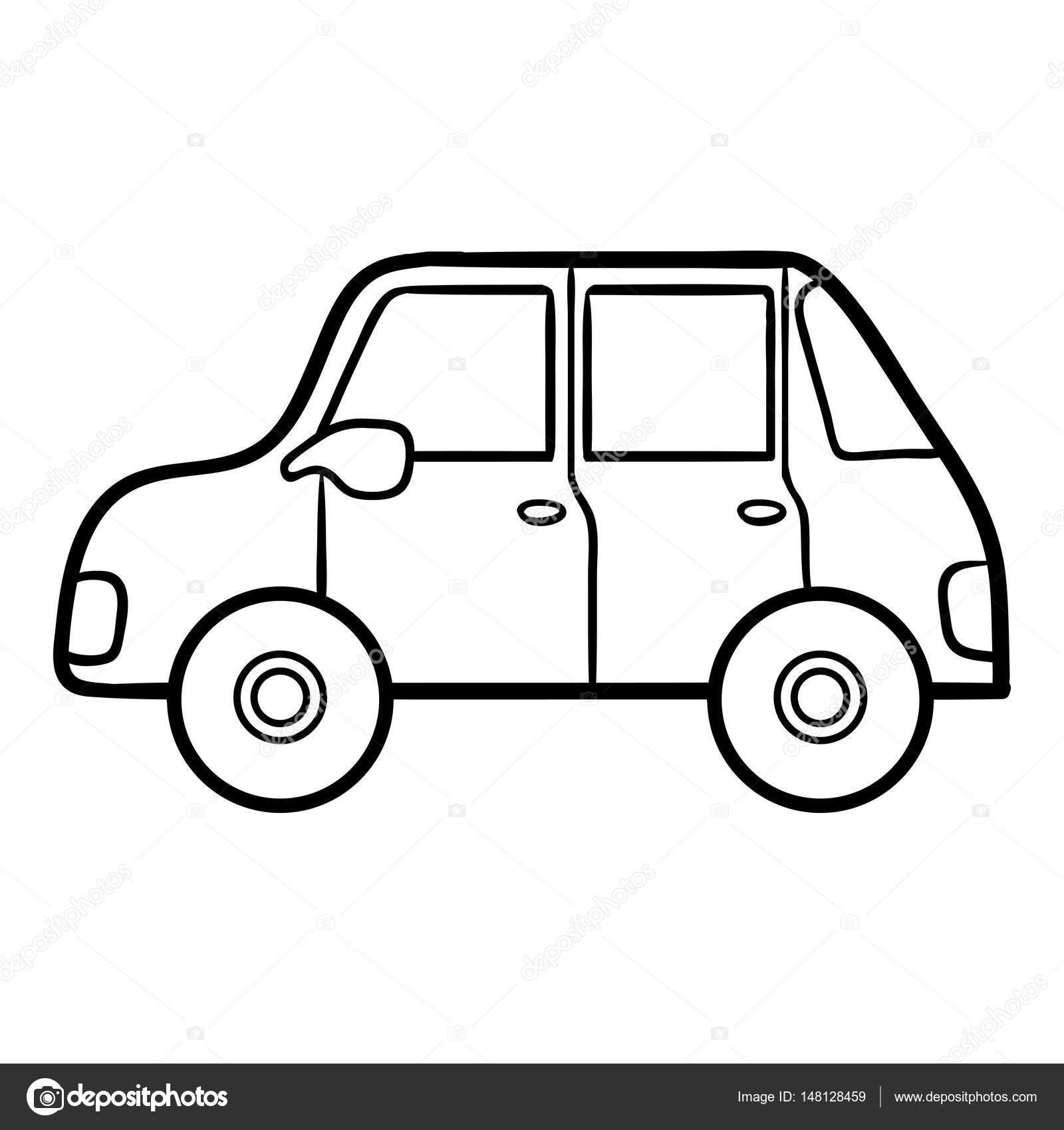 çocuklar Araba Boyama Kitabı Stok Vektör Ksenyasavva 148128459