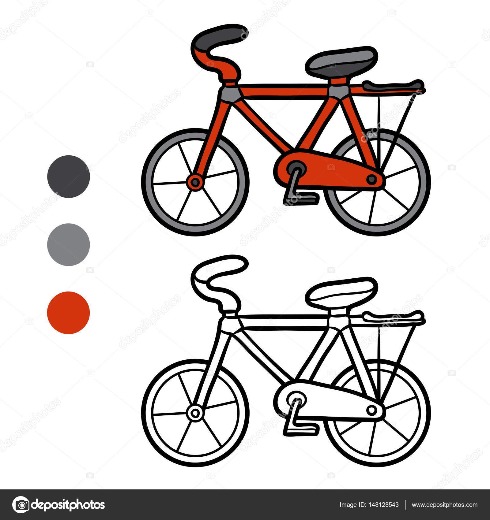 çocuklar Için Bisiklet Boyama Kitabı Stok Vektör Ksenyasavva