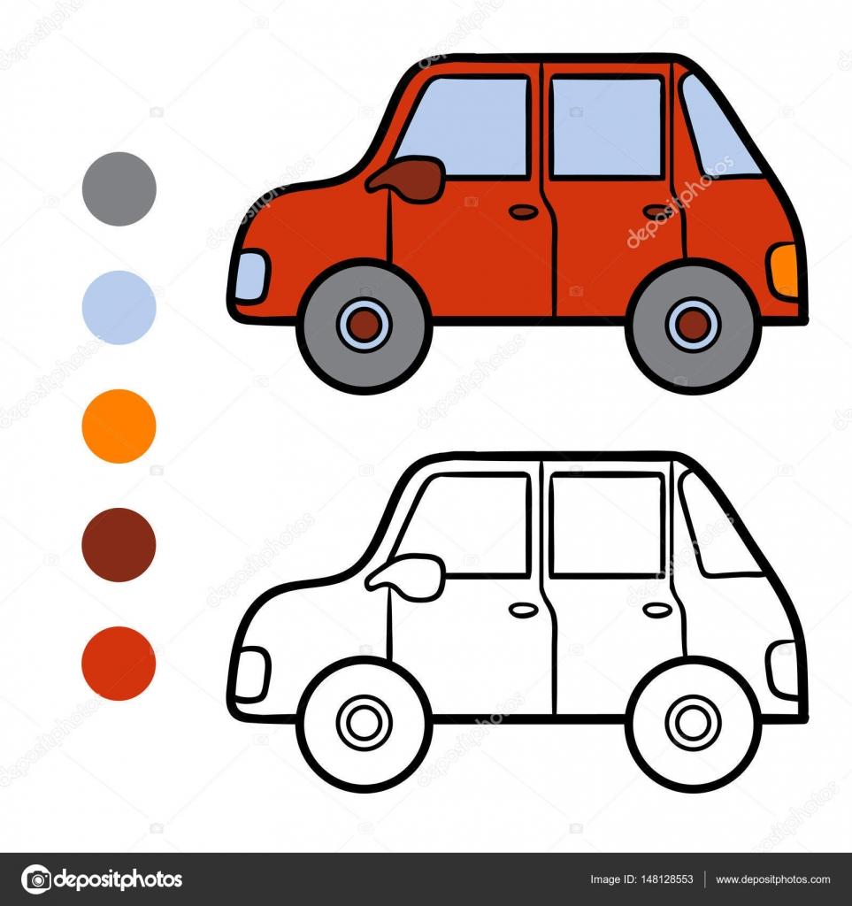 Libro para colorear para niños, coches — Archivo Imágenes ...