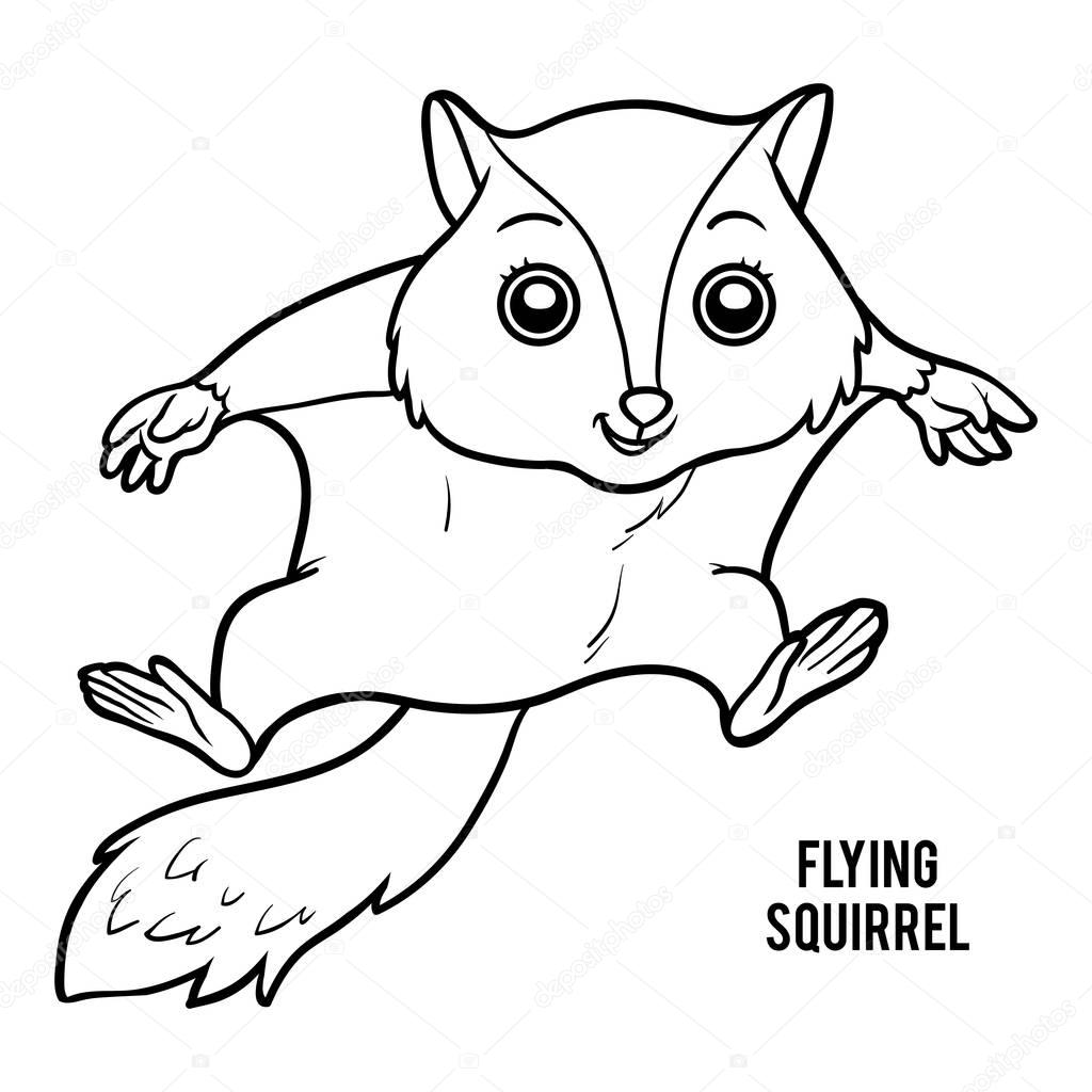 Libro de colorear ardilla voladora archivo im genes for Flying squirrel coloring page