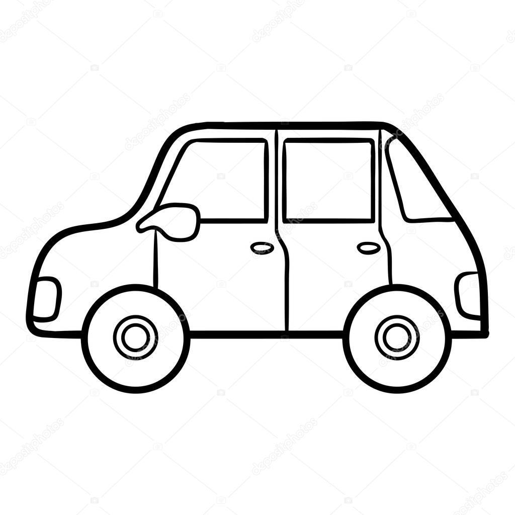 Kolorowanka Dla Dzieci, Samochód