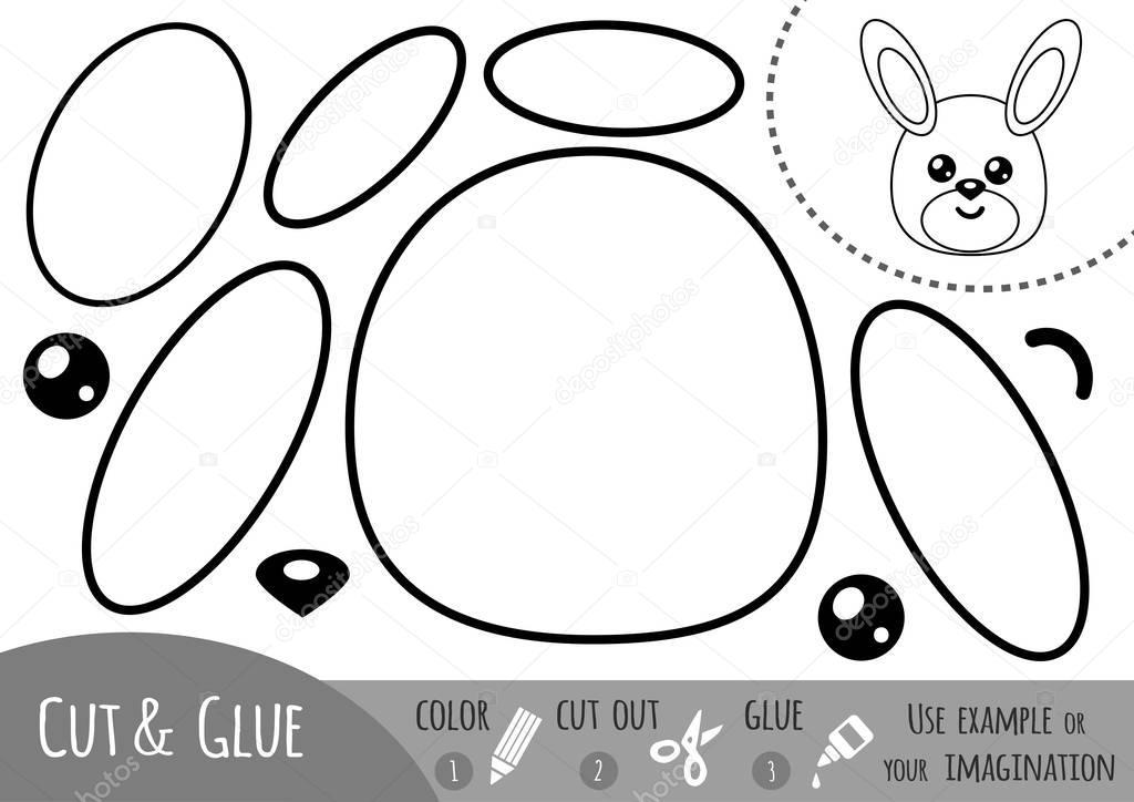 Bildung-Papier-Spiel für Kinder, Kaninchen — Stockvektor ...