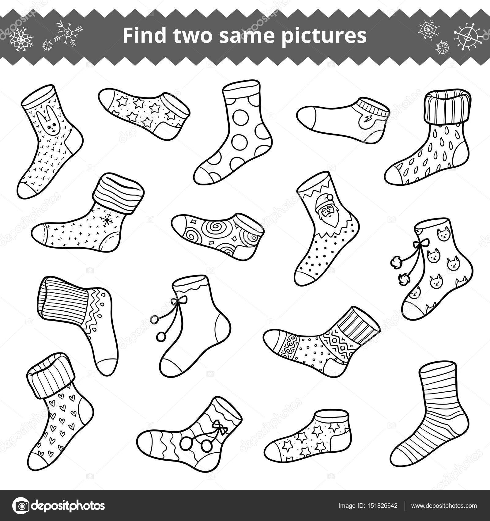Find Two Identical Pictures Education Game For Children Set Of