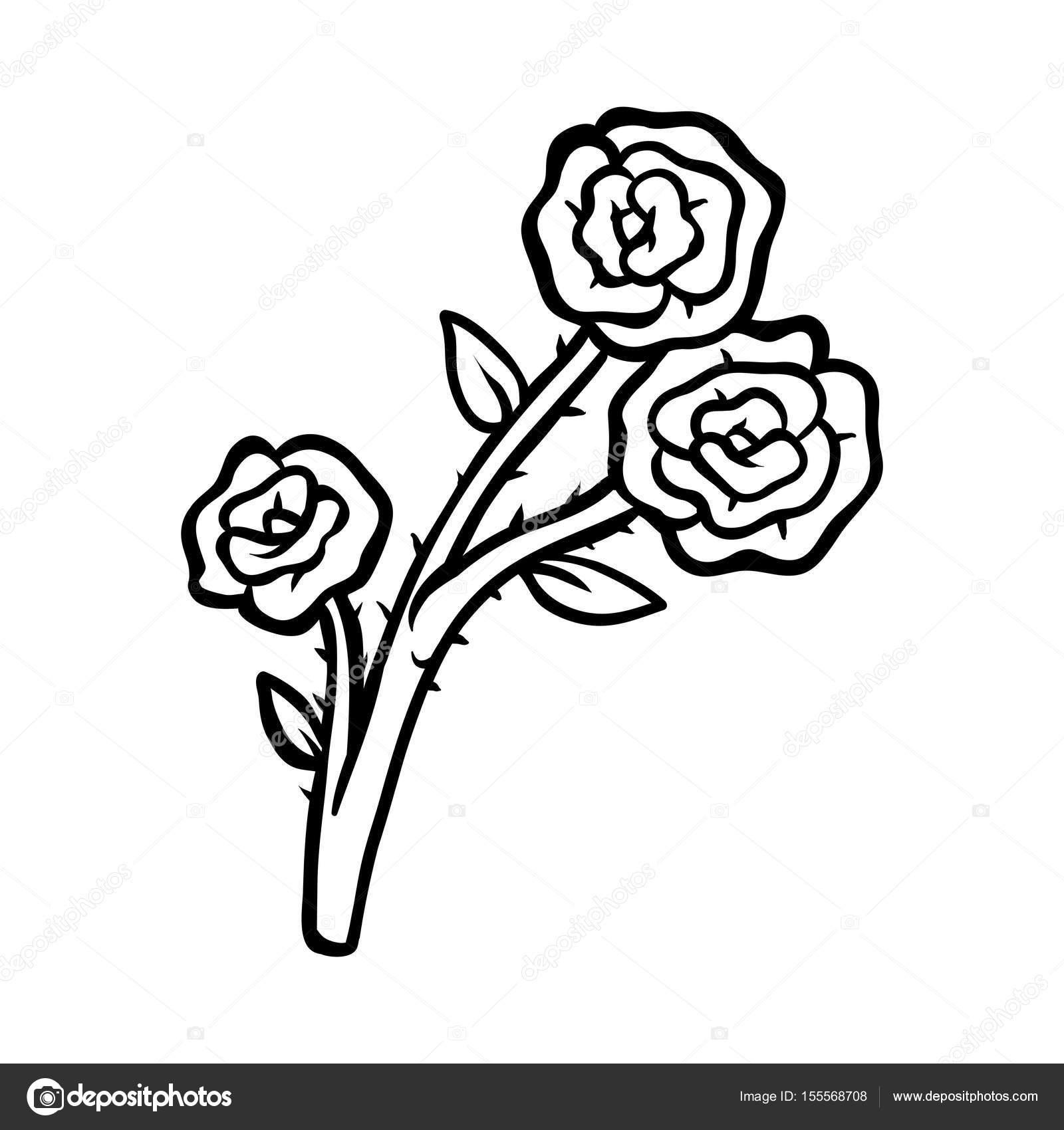 Boyama Kitabı çiçek Gül Stok Vektör Ksenyasavva 155568708