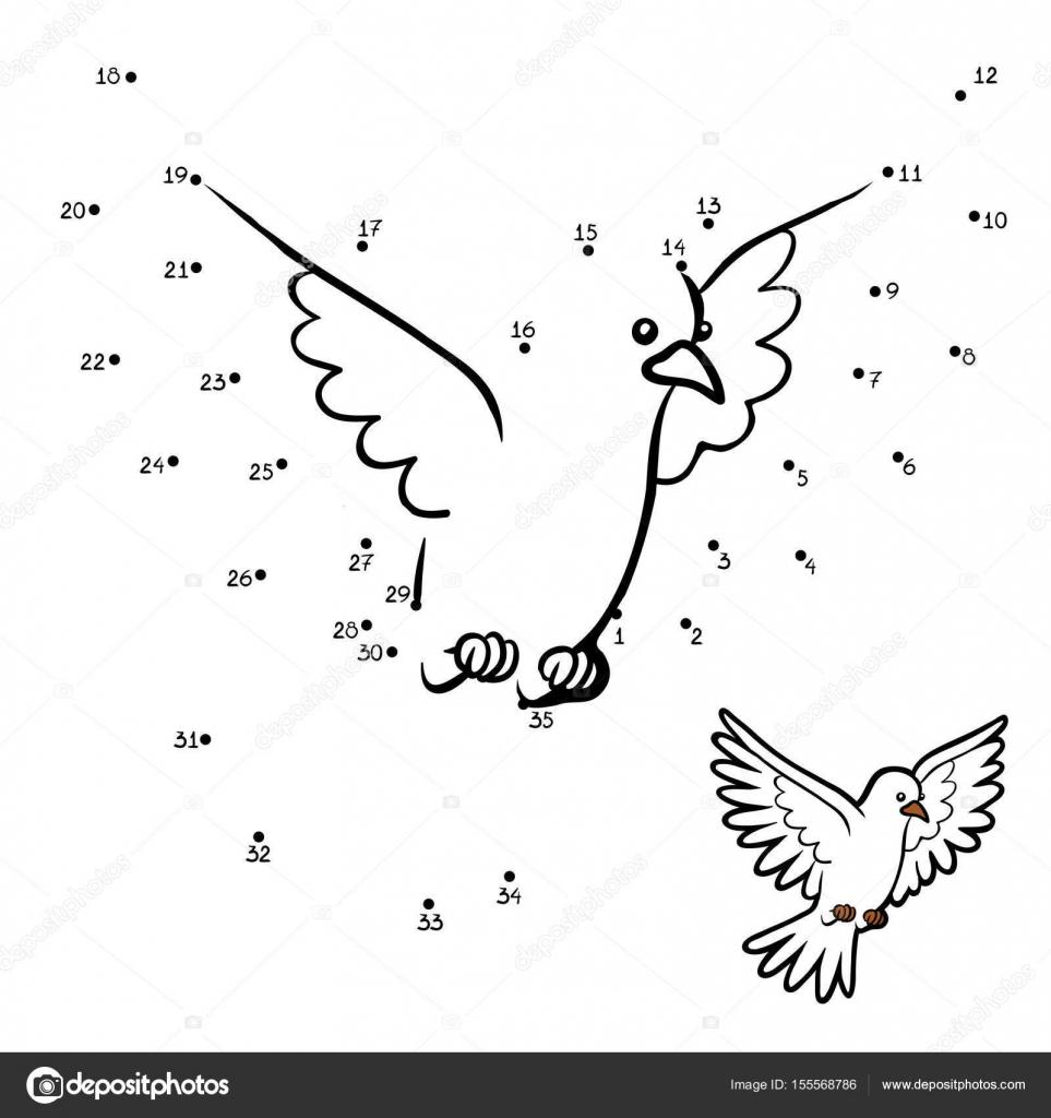 Sayı Oyunu Eğitim Oyun çocuklar Için Güvercin Stok Vektör