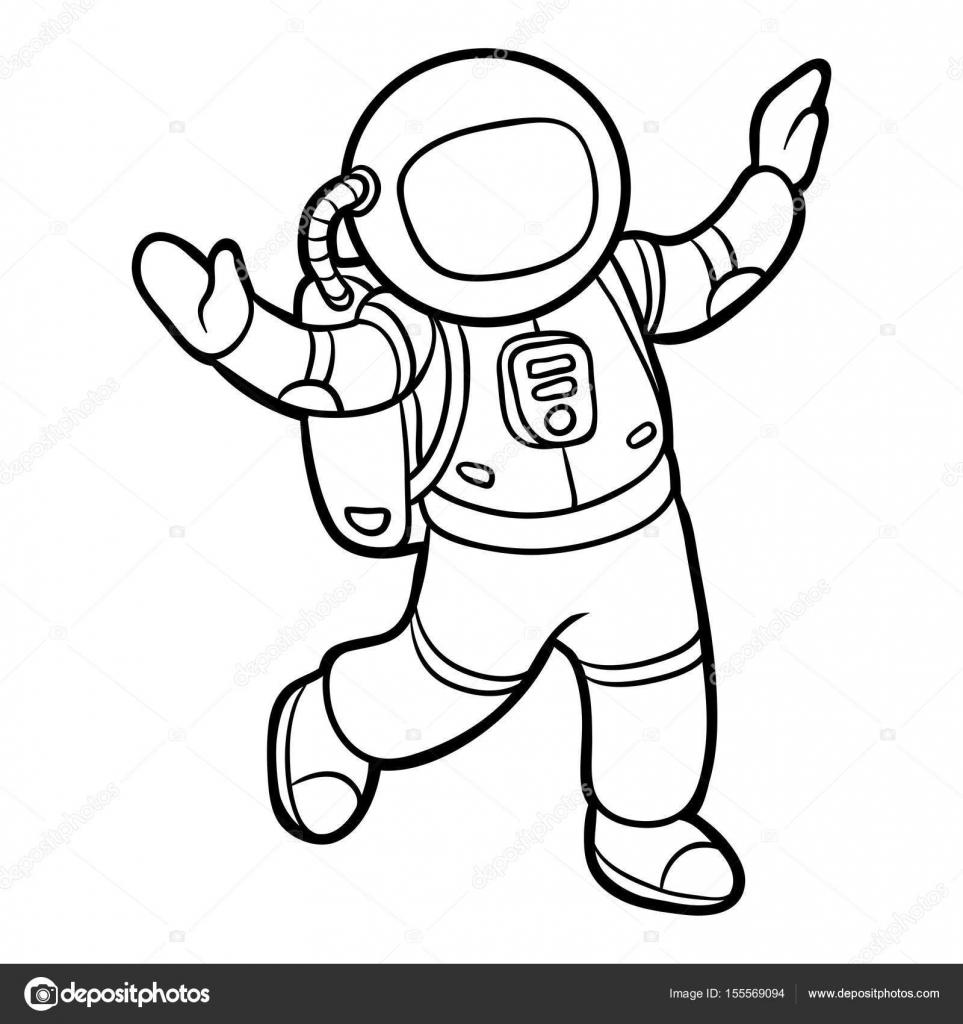 Coloring Book Astronaut Stock Vector C Ksenya Savva 155569094