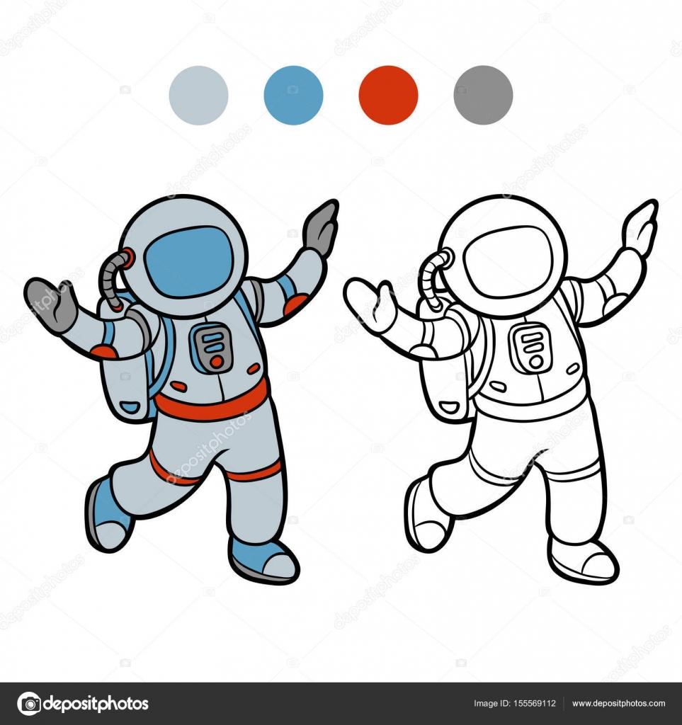 Boyama Kitabı Astronot Stok Vektör Ksenyasavva 155569112