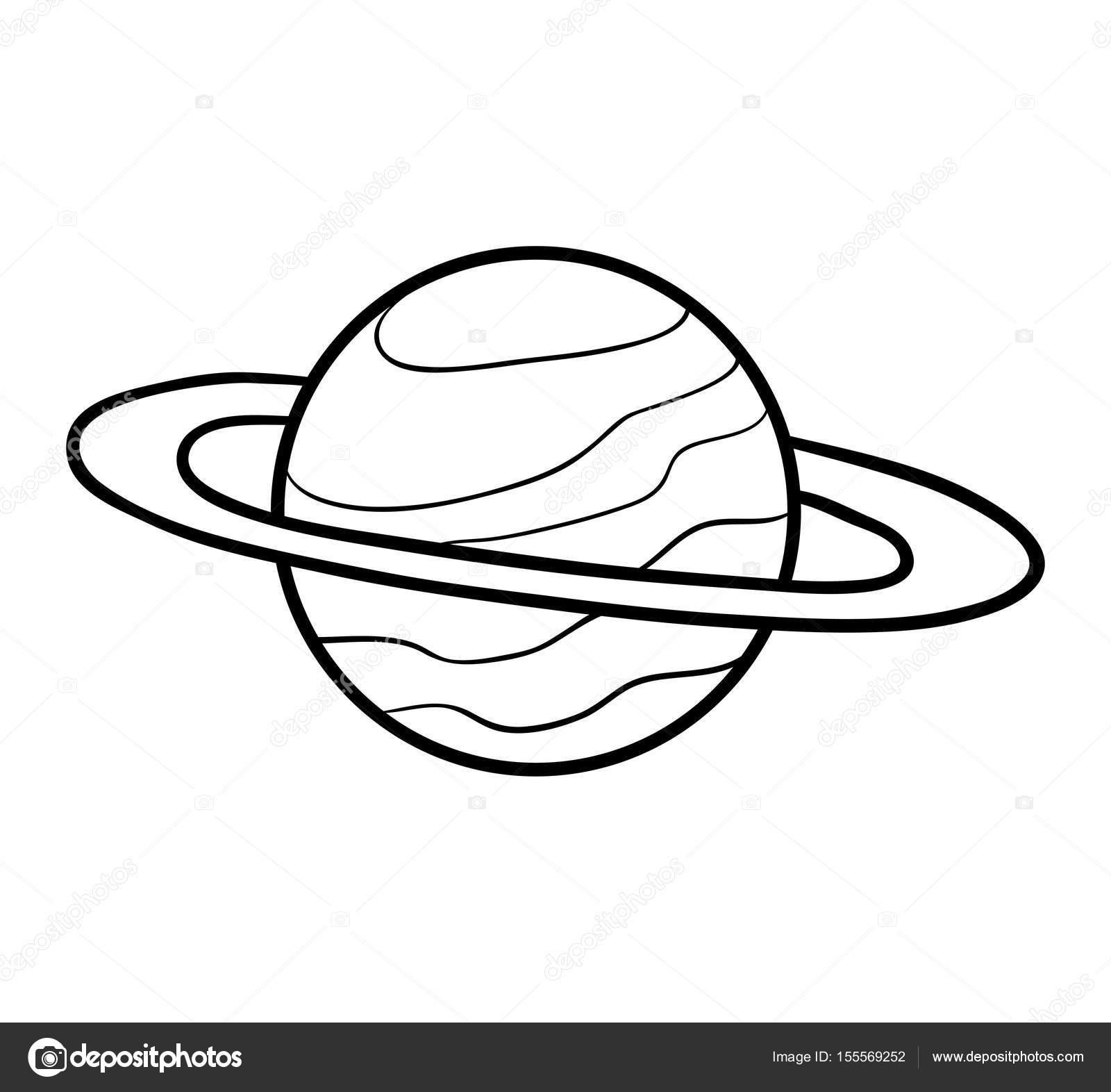 Boyama Kitabı Saturn Stok Vektör Ksenyasavva 155569252