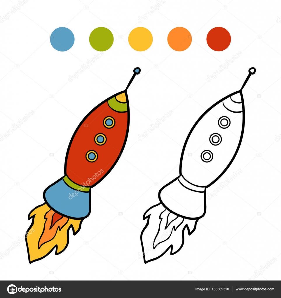 Boyama Kitabı Uzay Gemisi Stok Vektör Ksenyasavva 155569310