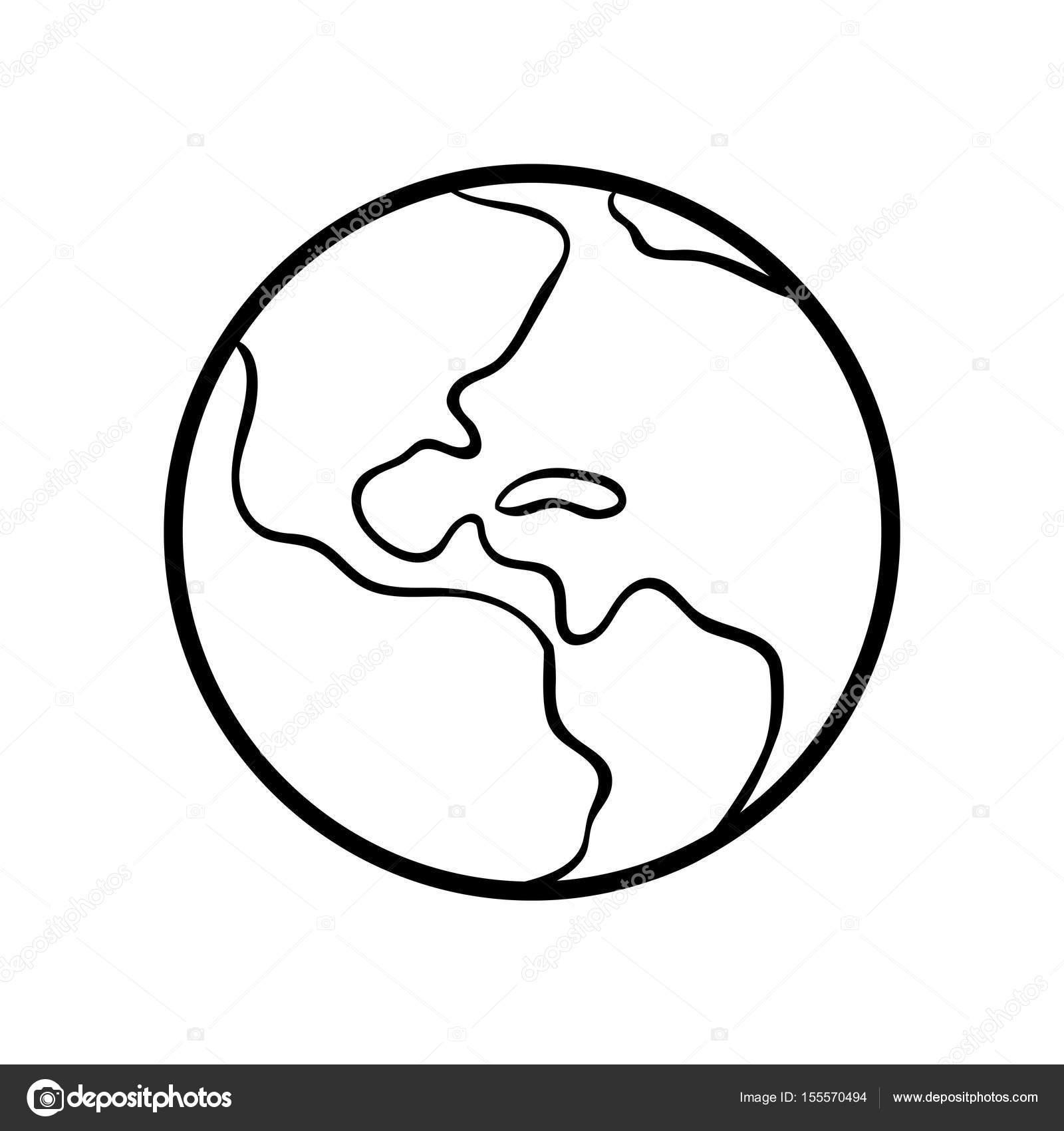 Boyama Kitabı Dünya Stok Vektör Ksenyasavva 155570494