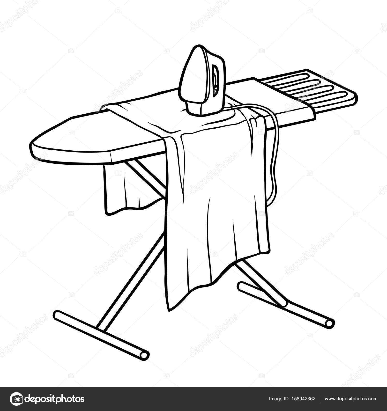 coloring book  ironing board  u2014 stock vector  u00a9 ksenya savva