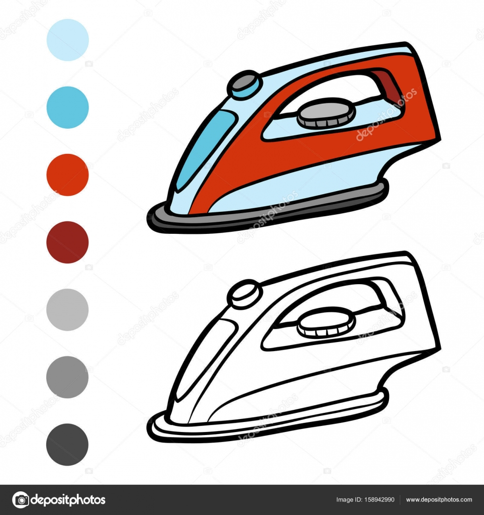 Libro de colorear, hierro — Vector de stock © ksenya_savva #158942990