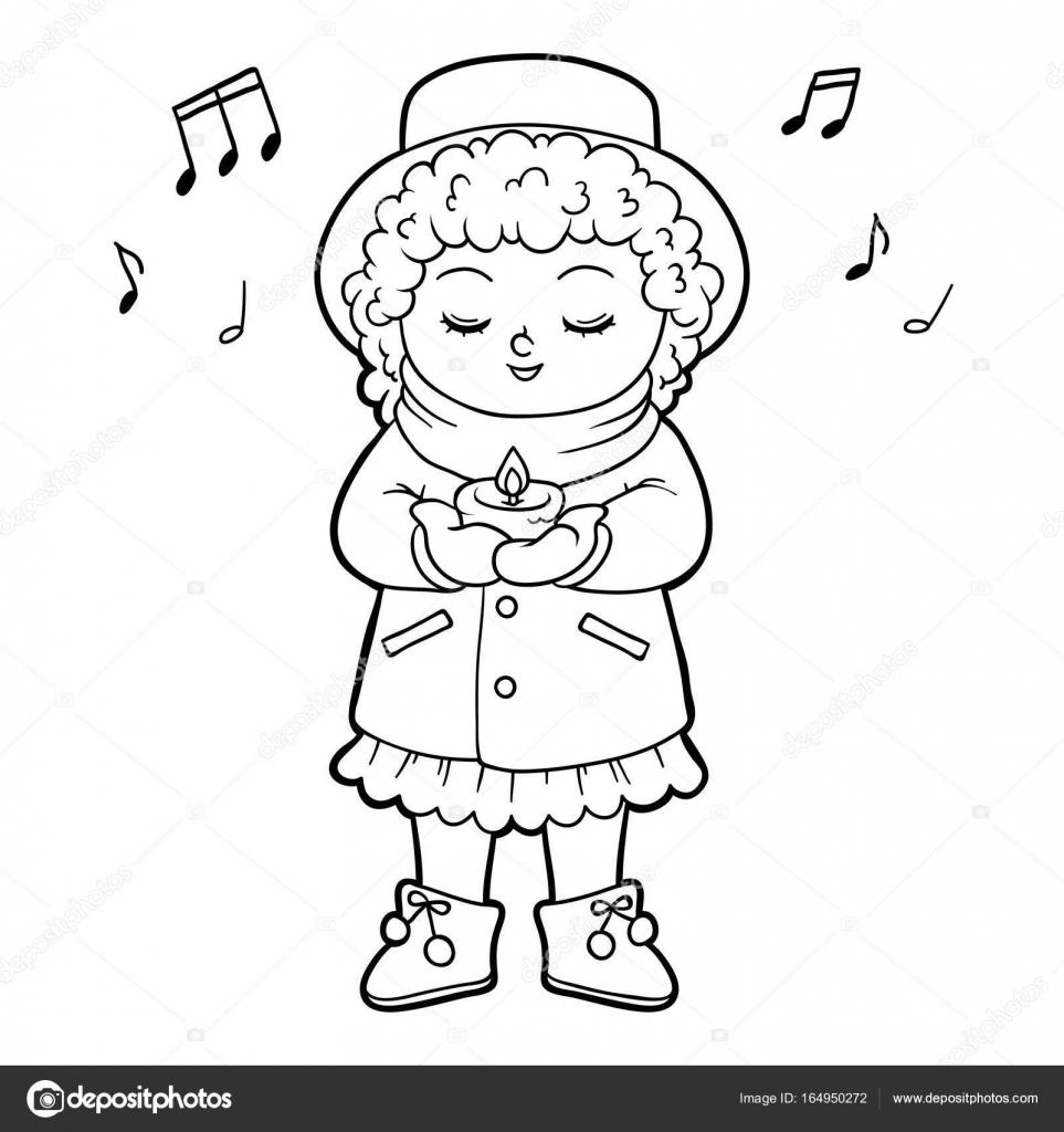 Imagenes Nino Cantando Para Colorear Libro De Colorear Para Ninos