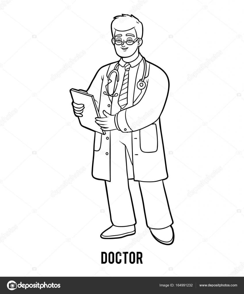 Boyama Kitabı Doktor Stok Vektör Ksenyasavva 164991232
