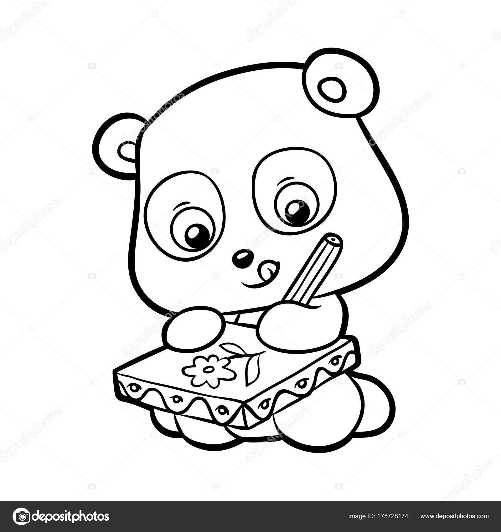 Boyama Kitabı Panda Stok Vektör Ksenyasavva 175728174