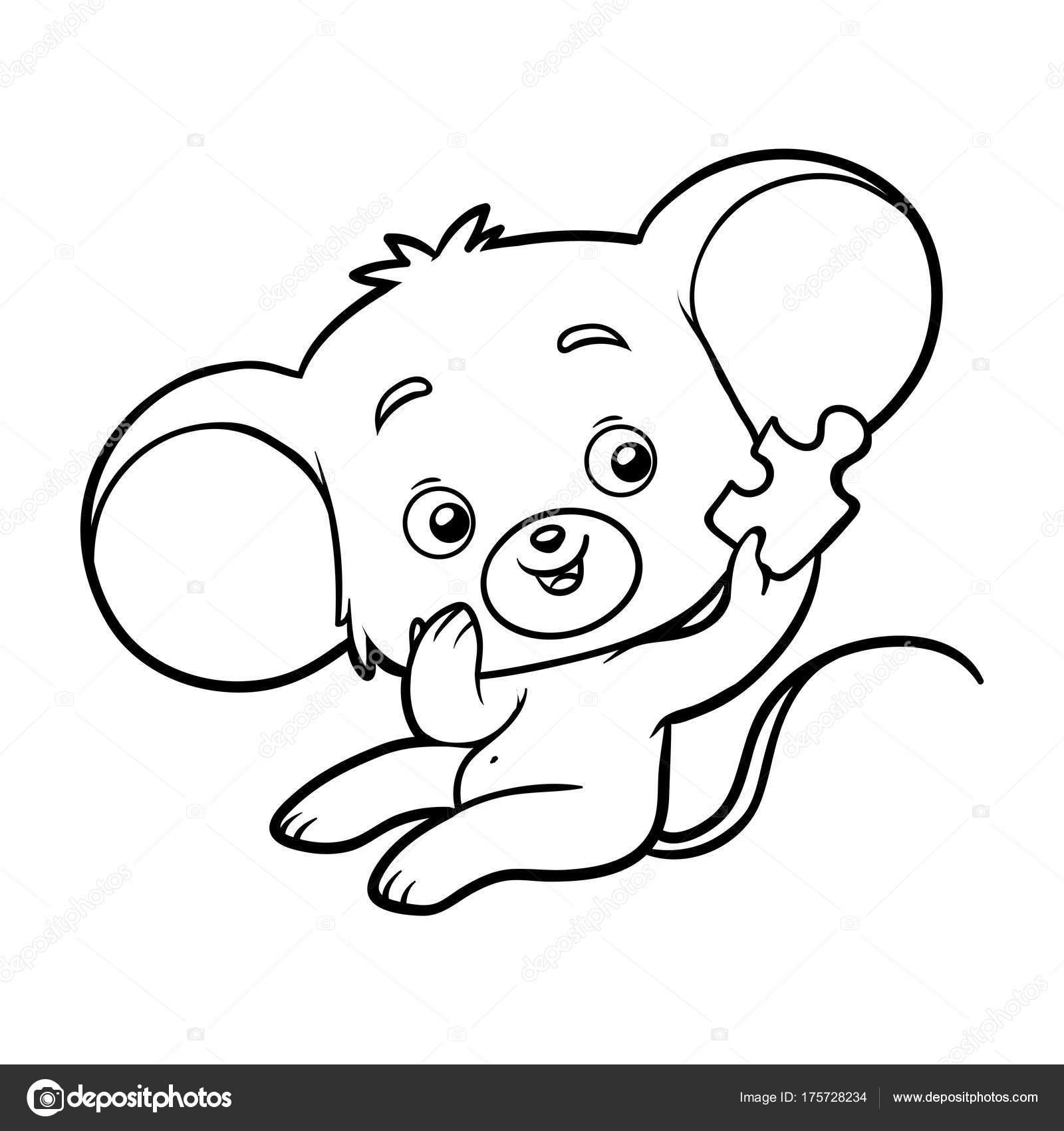 Libro de colorear, ratón — Archivo Imágenes Vectoriales ...