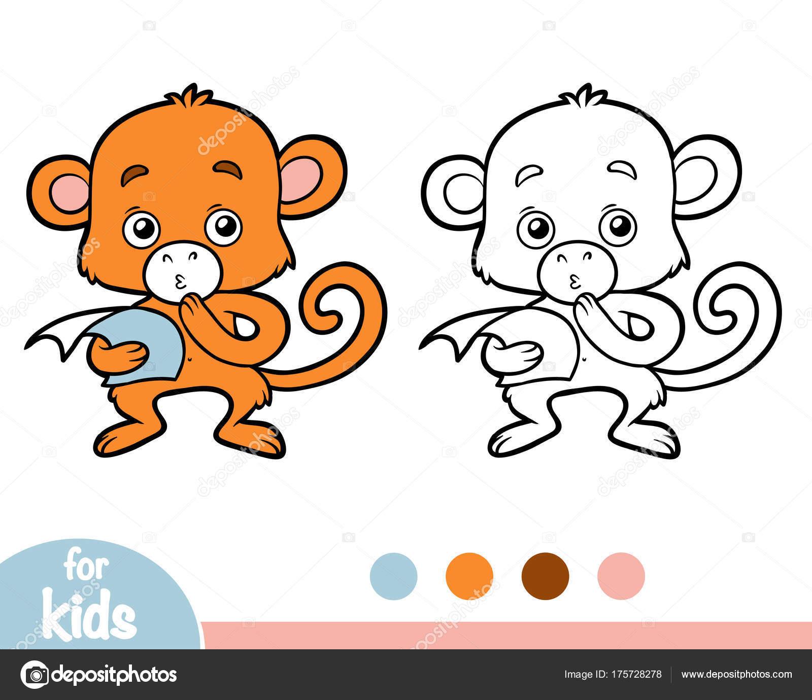 Coloring book, Monkey — Stock Vector © ksenya_savva #175728278