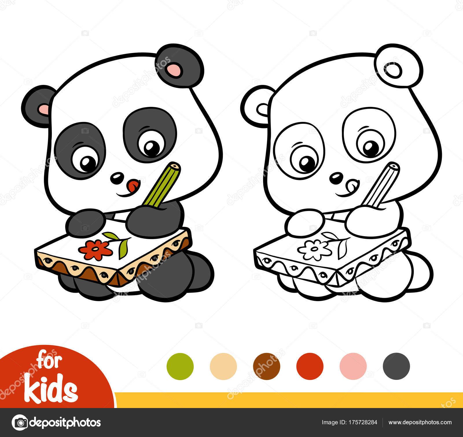 Libro de colorear, Panda — Archivo Imágenes Vectoriales ...