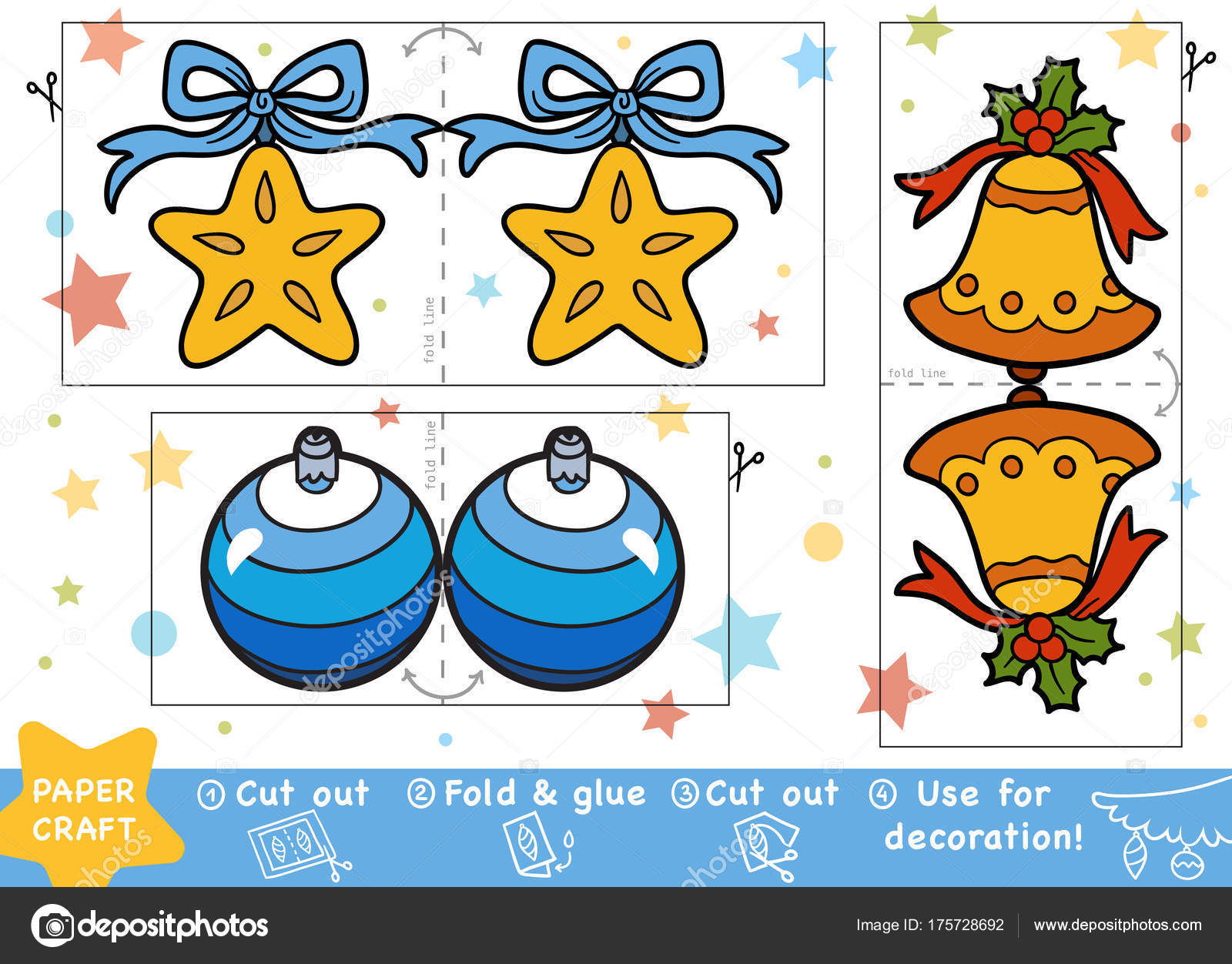 Education Christmas Paper Crafts Children Christmas Bell Christmas