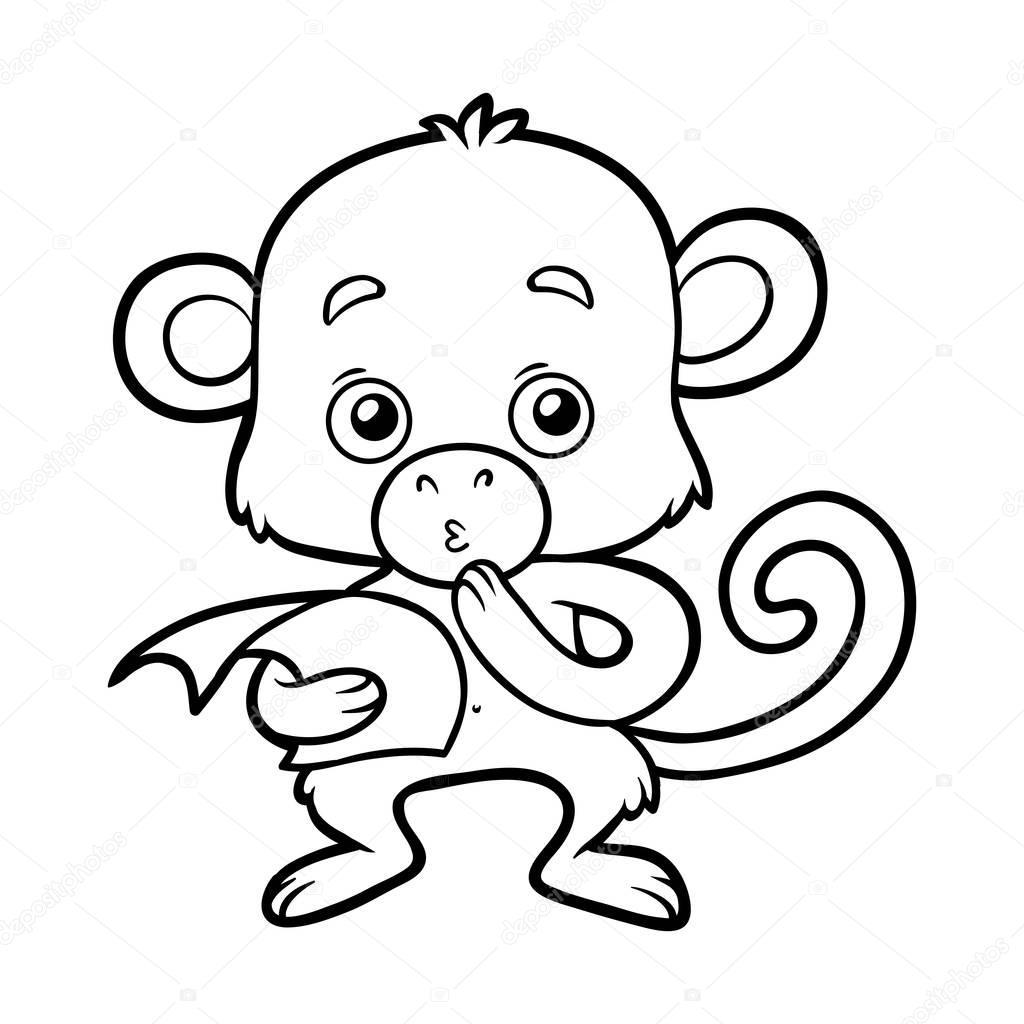 Niedlich Druckbare Affen Malvorlagen Zeitgenössisch - Beispiel ...