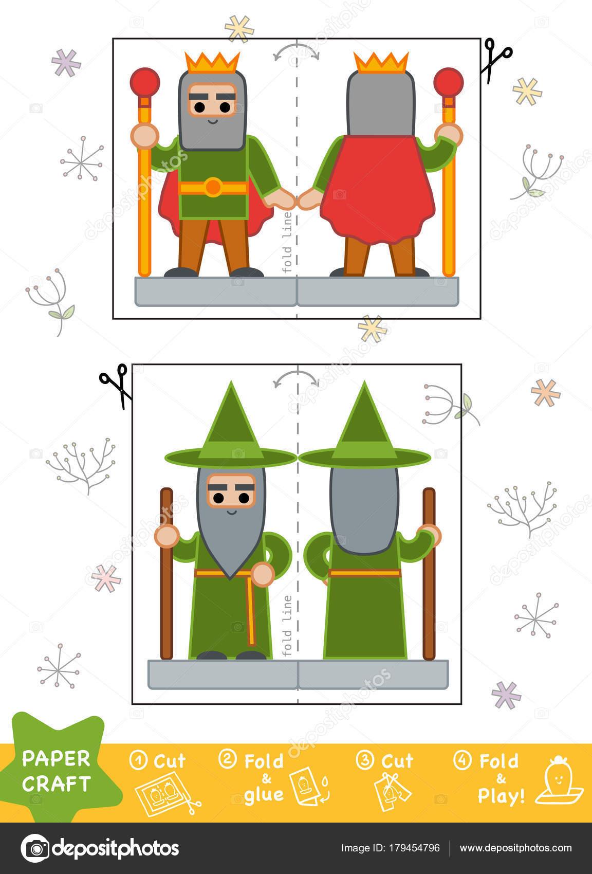 Bildung Papiermodelle für Kinder, Assistenten und König ...