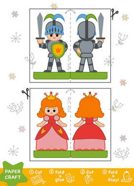 Education Paper Crafts for children, Knight and Princess