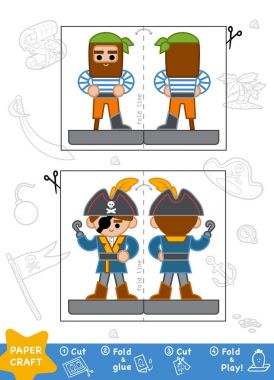 Education Paper Crafts for children, Pirates