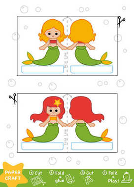 Education Paper Crafts for children, Mermaids
