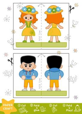 Education Paper Crafts for children, Boy and Girl